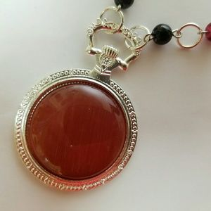 handmade Jewelry - 💖 2 for $8 Handmade cat's eye silver necklace